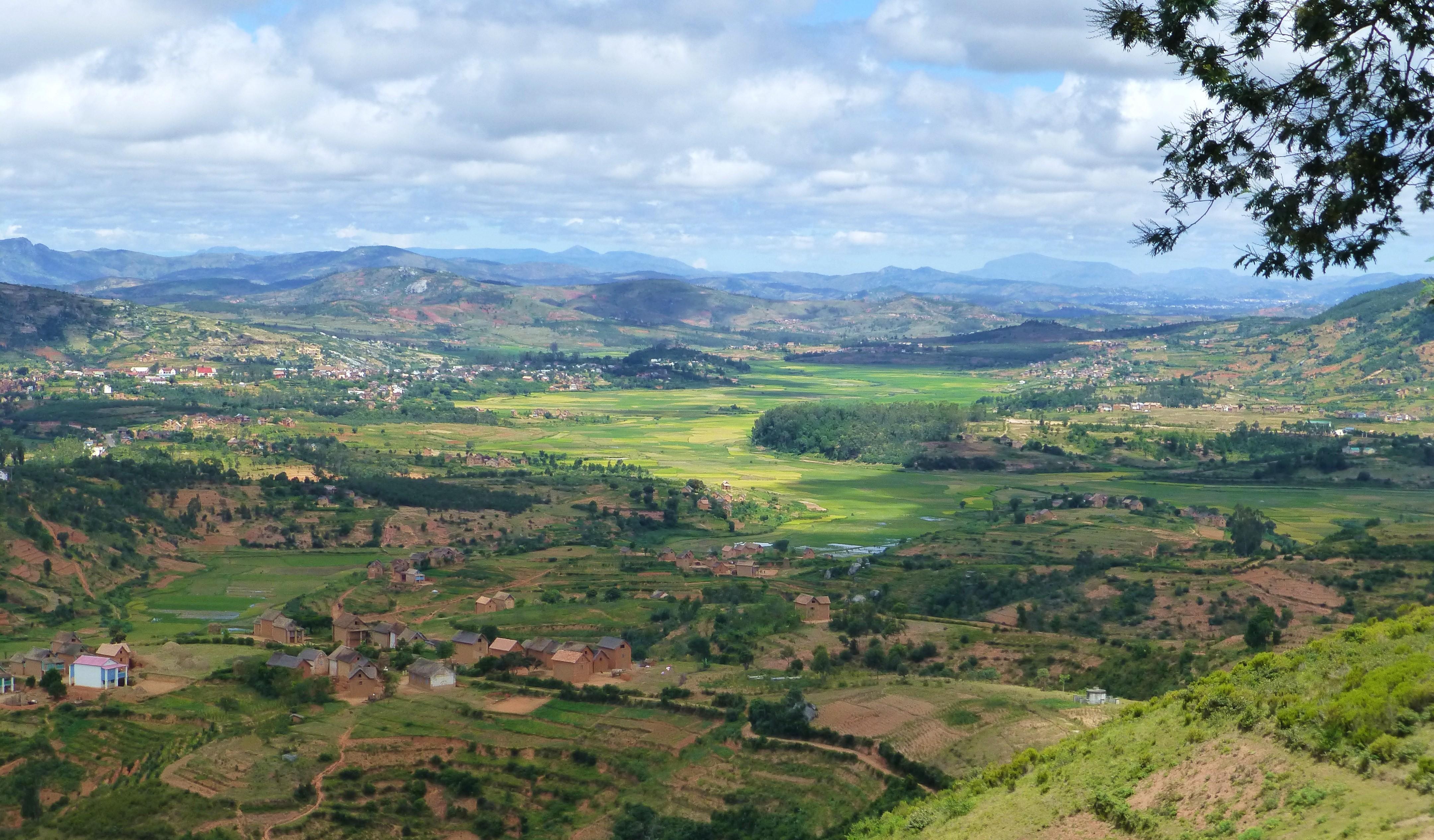Mooi zicht ten noorden van Fianarantsoa