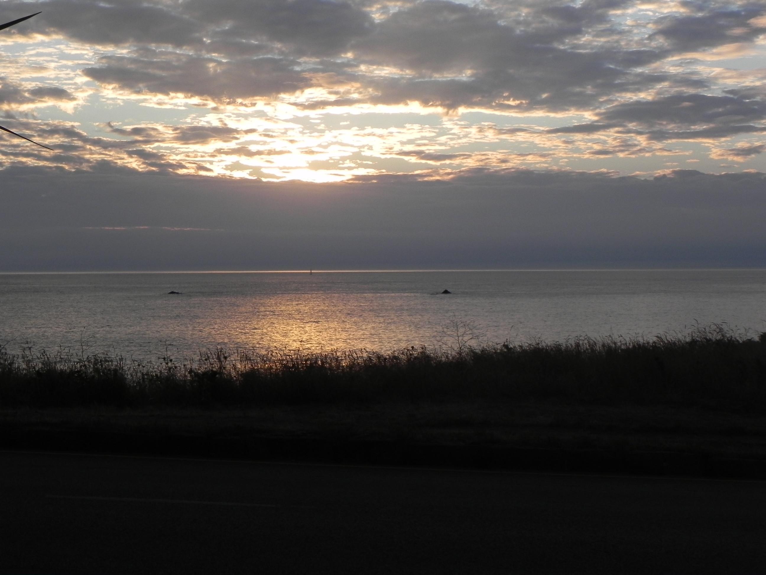 Een romantische zonsondergang