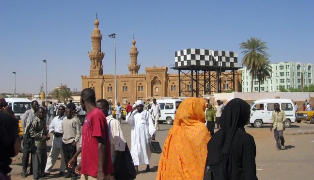 Straatbeeld in Khartoem