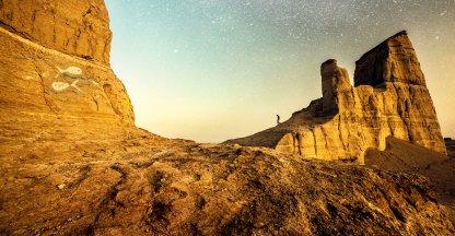 Slapen onder de sterren in de woestijn van Iran