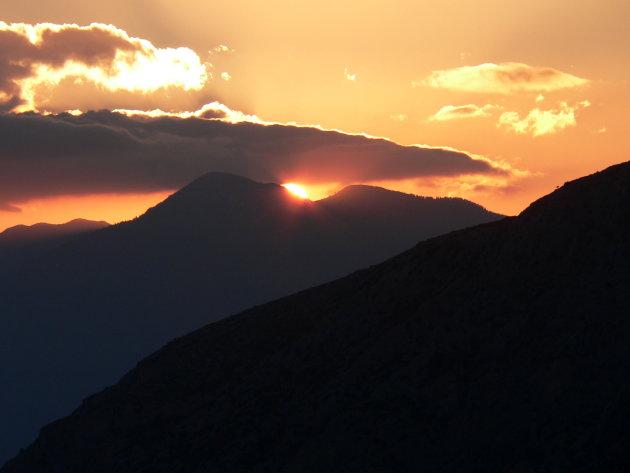 Zonsondergang bij Delphi