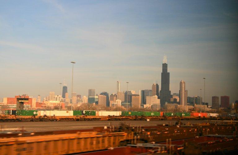 Aankomst in Chicago