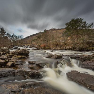 Voorvertoning Watervallen van Dochart in Killin.