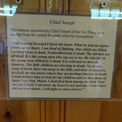 Voorvertoning De speech van Chief Joseph