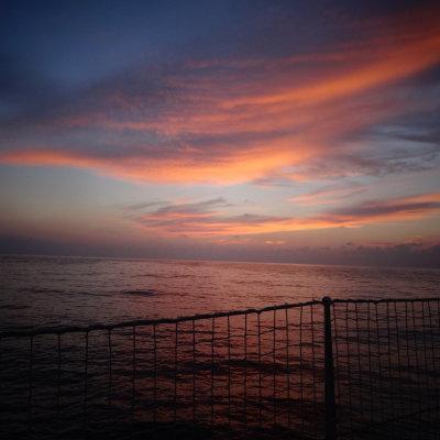 Voorvertoning Vlak voor de maan opkomt, worden we getrakteerd op een live schilderij boven de oneindige zee.