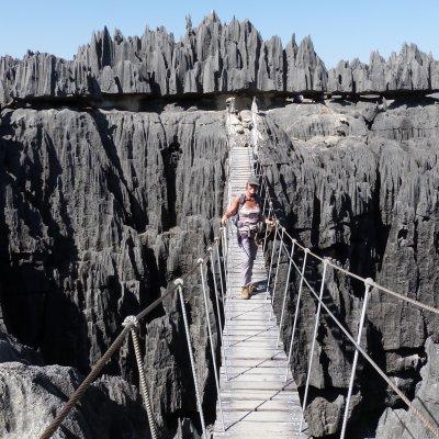 Voorvertoning Klettersteigen in de Tsingy Grande is een leuke bezigheid.