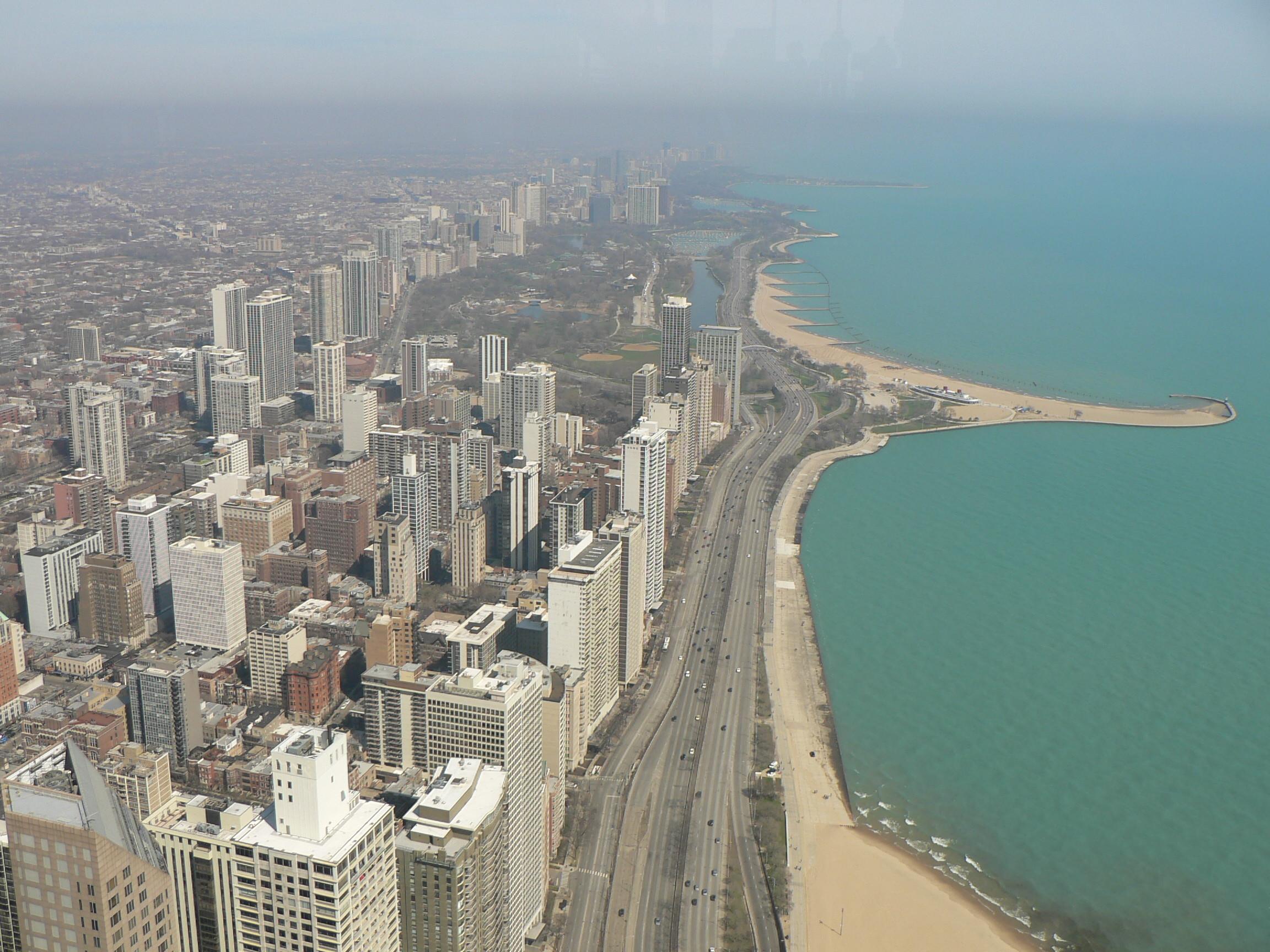 Uitzicht vanuit 360 Chicago