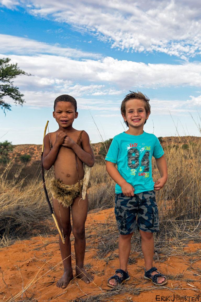 Hoofdfoto bij reisverhaal 'Met kinderen naar de San'