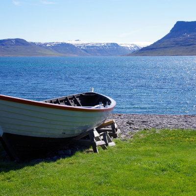 Voorvertoning Het uitzicht op de omringende fjorden