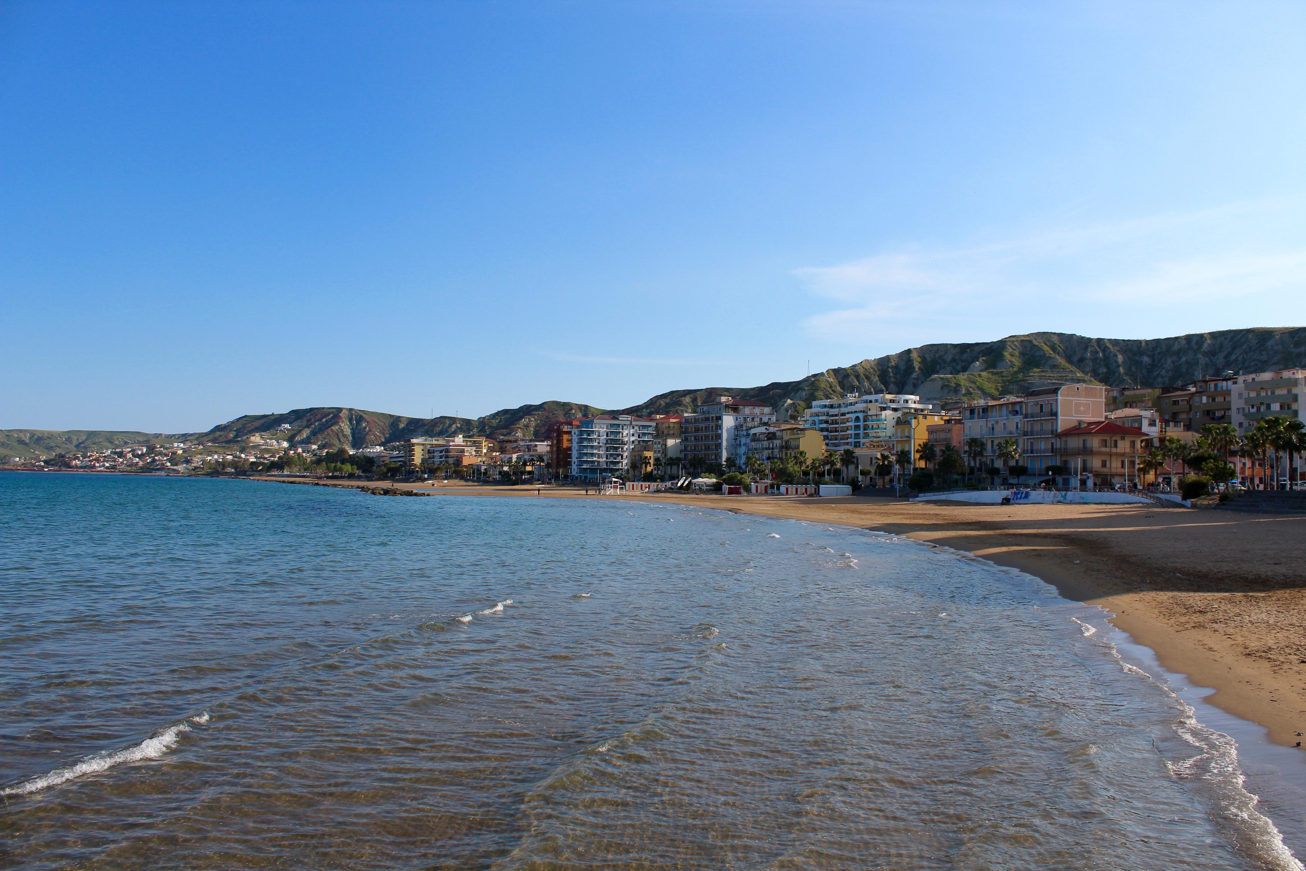 Centrum van Crotone aan de zee