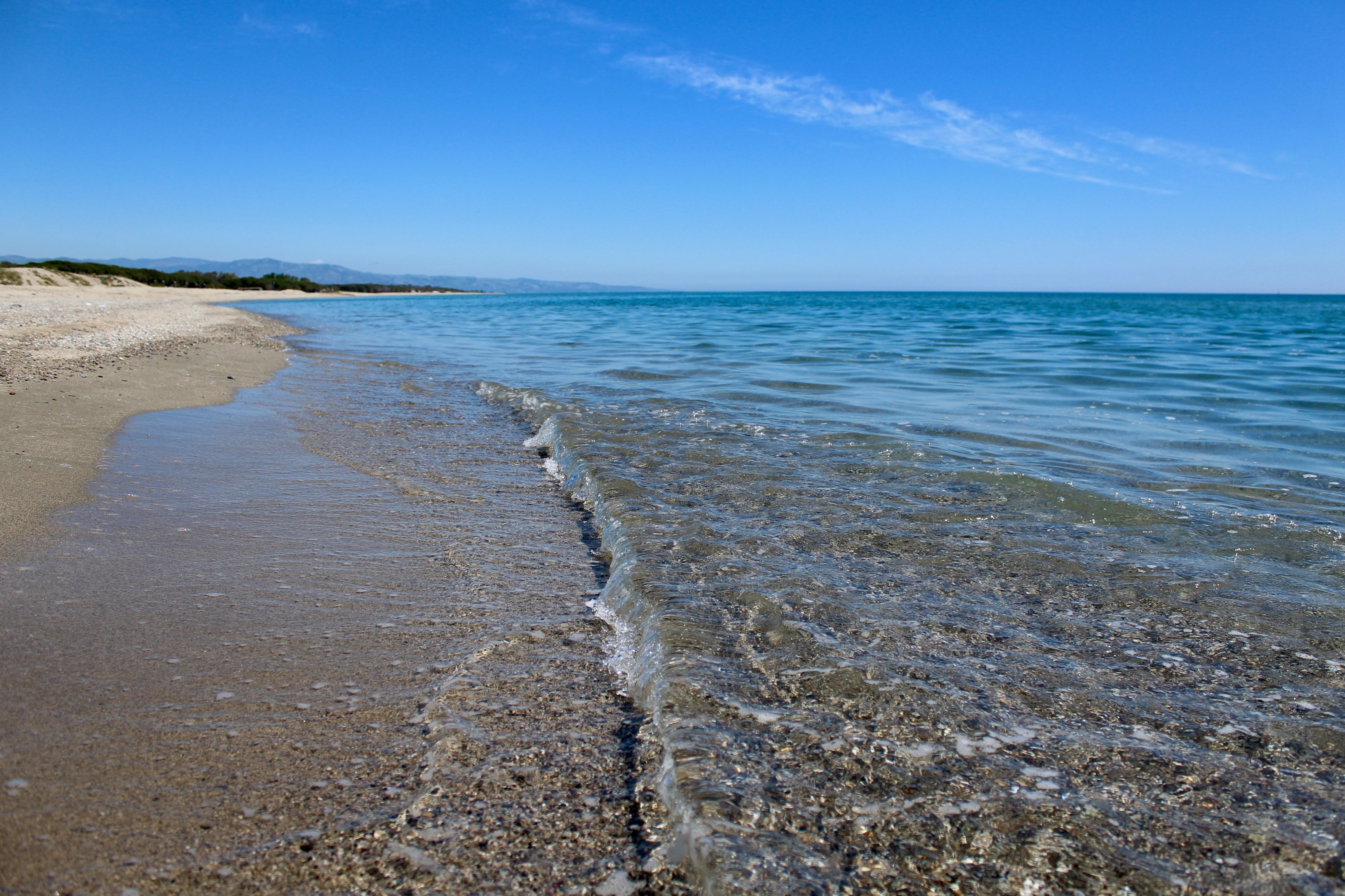 Super helder water aan de Ionische zee