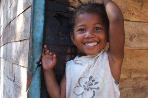 vrolijk meisje
