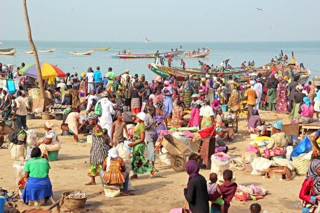 Vismarkt van Banjul bezoeken