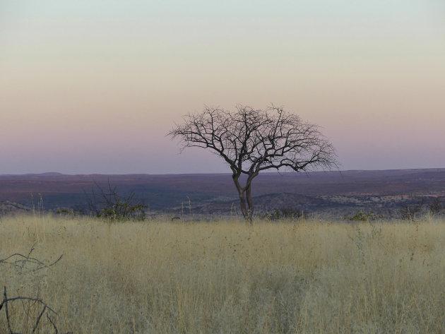 Zonsondergang in Opuwo