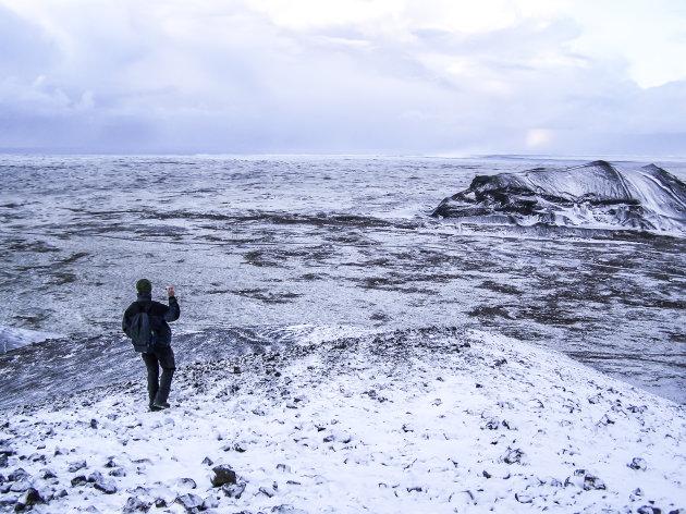 Wandelen in winters IJsland