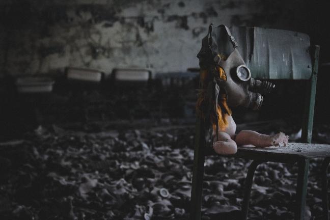 Gasmaskers in Chernobyl