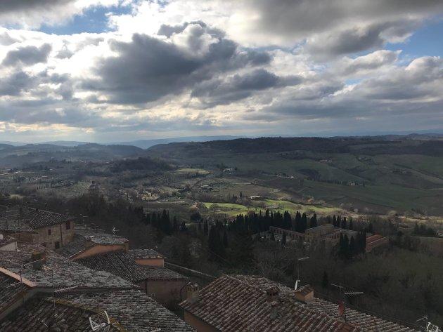 Zon, wolken en historie