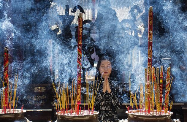 The smoke of incense