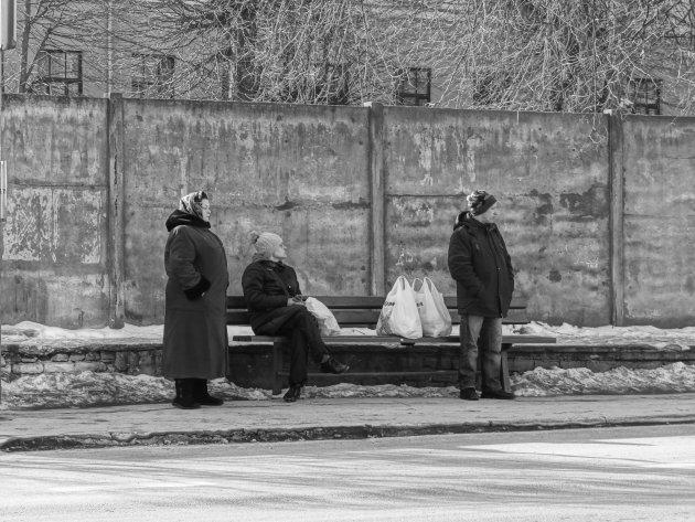 Wachten op de bus doe je zo