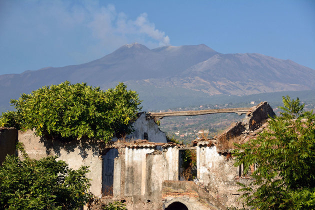 Zicht op de Etna