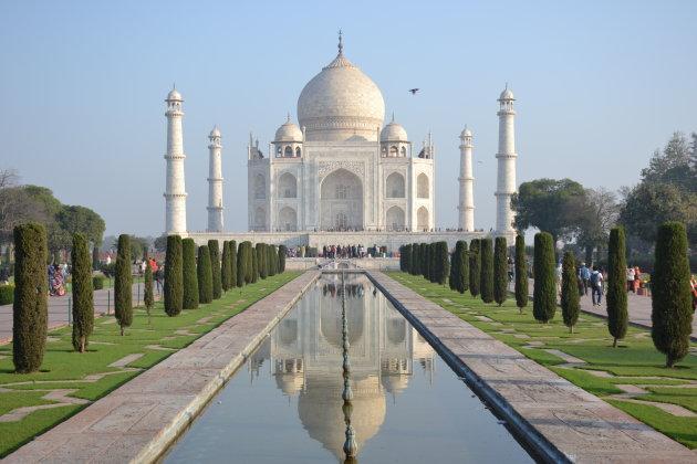 Taj Mahal in het ochtendlicht