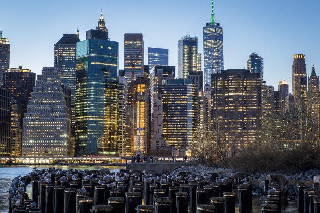 Ontvlucht druk Manhattan