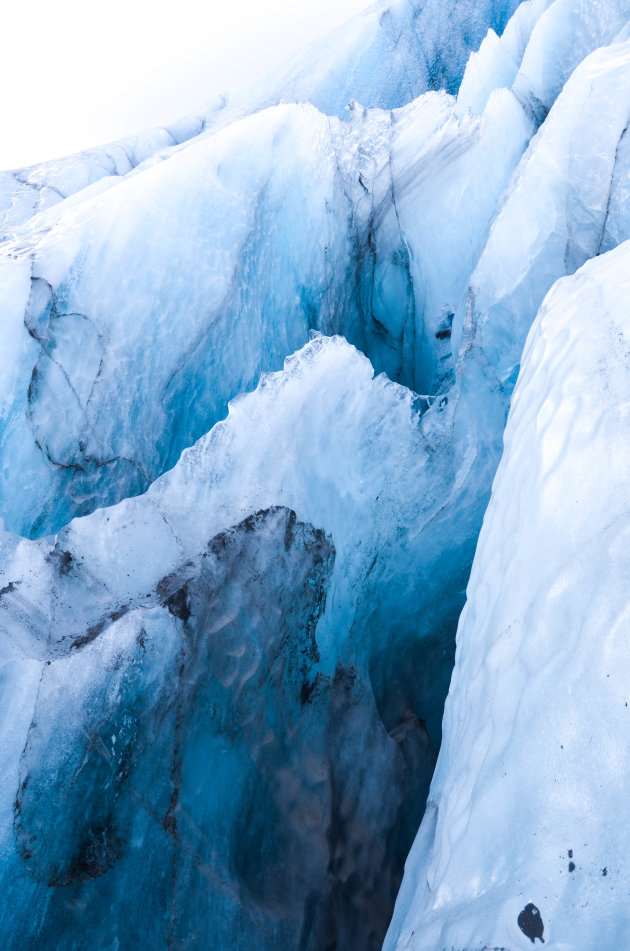 Neem altijd een gids mee op je gletsjerwandeling!
