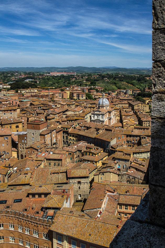 Uitzicht over Siena
