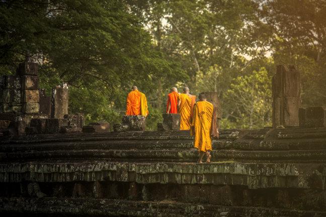 Siem Riep (Cambodja) alleen nog vroeg in de morgen