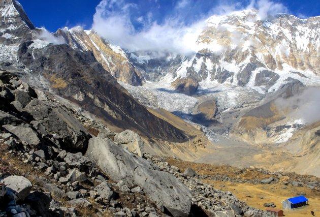 Mega uitzicht op Annapurna basecamp