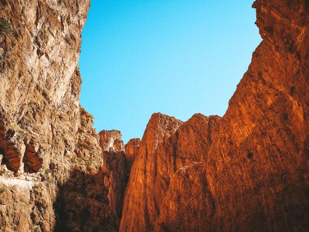 Wandeling in het Todra Gorge..