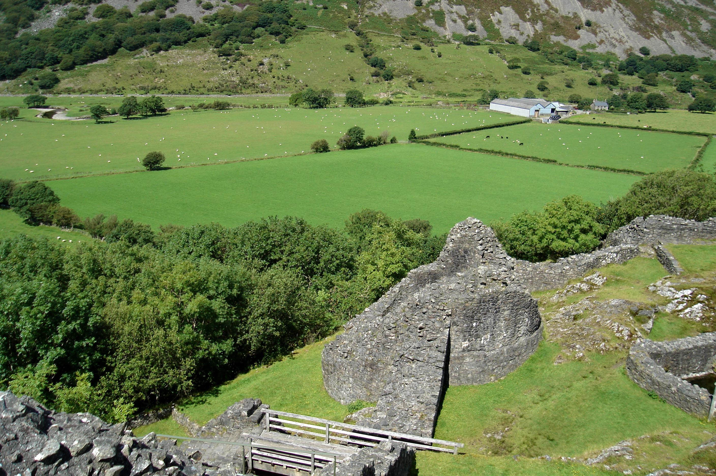 Castell Y Bere en de Dysynni vallei.