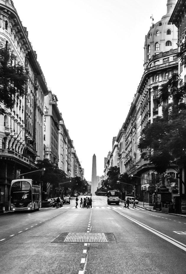 Lege straten in Buenos Aires