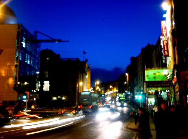 Night traffic Dublin