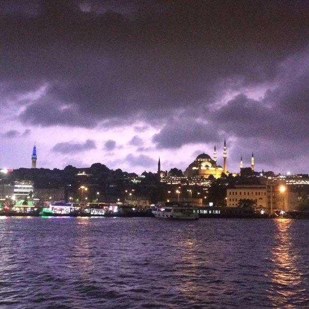 Onweer in Istanbul