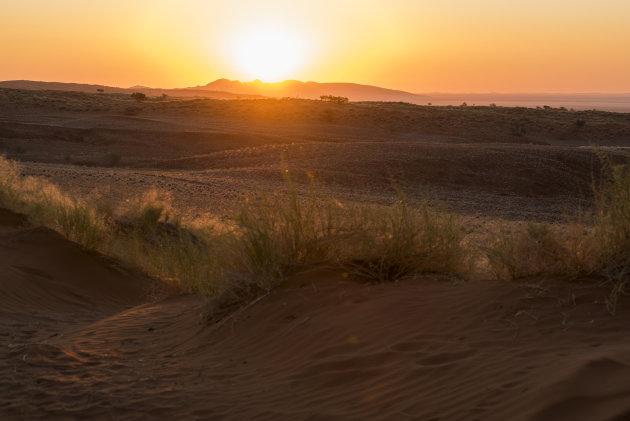 Namib Naukluft zonsondergang