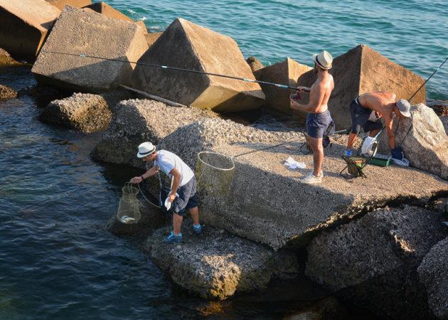 Drie vissers