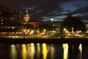 Stockholm bij nacht