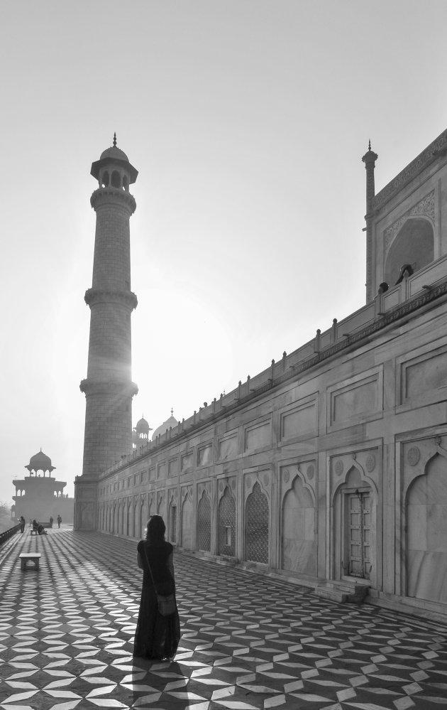 Rust bij de Taj Mahal