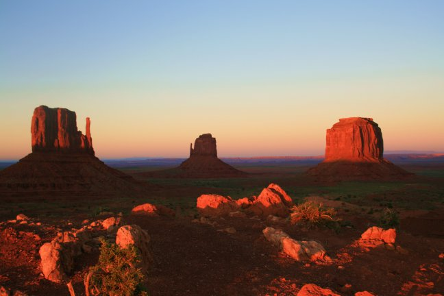 Zonsondergang, Monument Valley