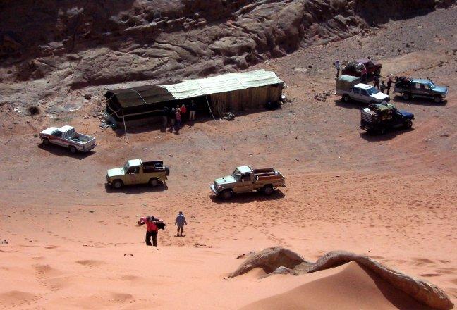 bedoïnen tent in Wadi Rum