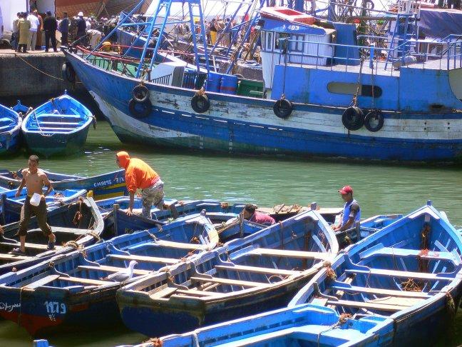drukke haven Essaouira