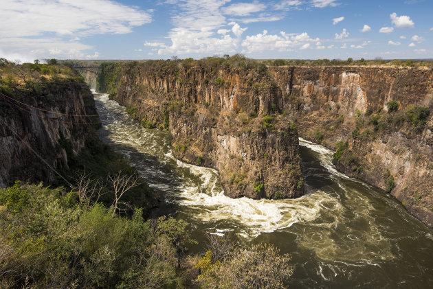 uitzicht na de Victoria Falls