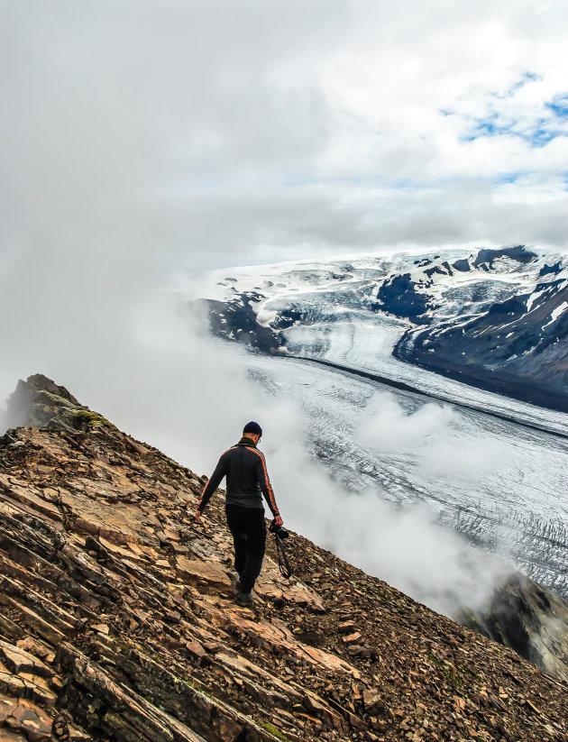 Boven de wolken in de Skaftafell