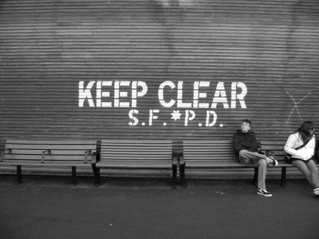 Keep clear...