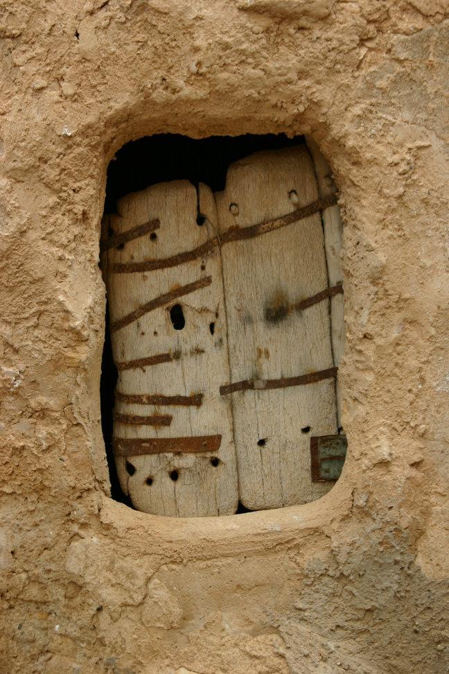 Een deur naar een voorraadkamer.