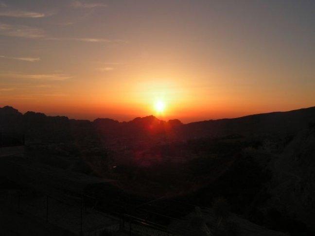 De ondergaande zon