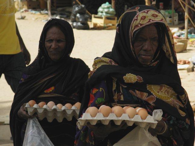 Marktvrouwen in Murzuq.