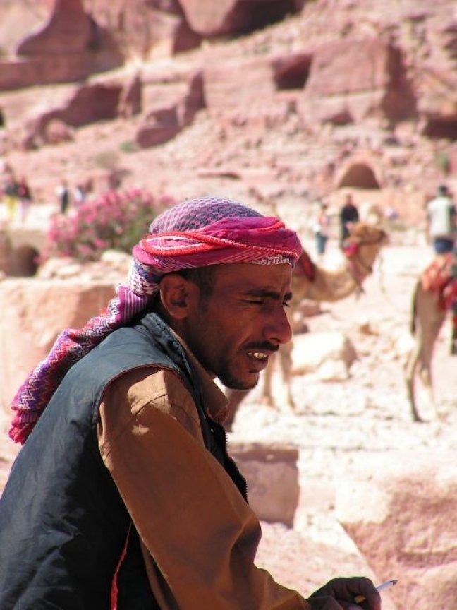 Uitzicht vanaf de kameel