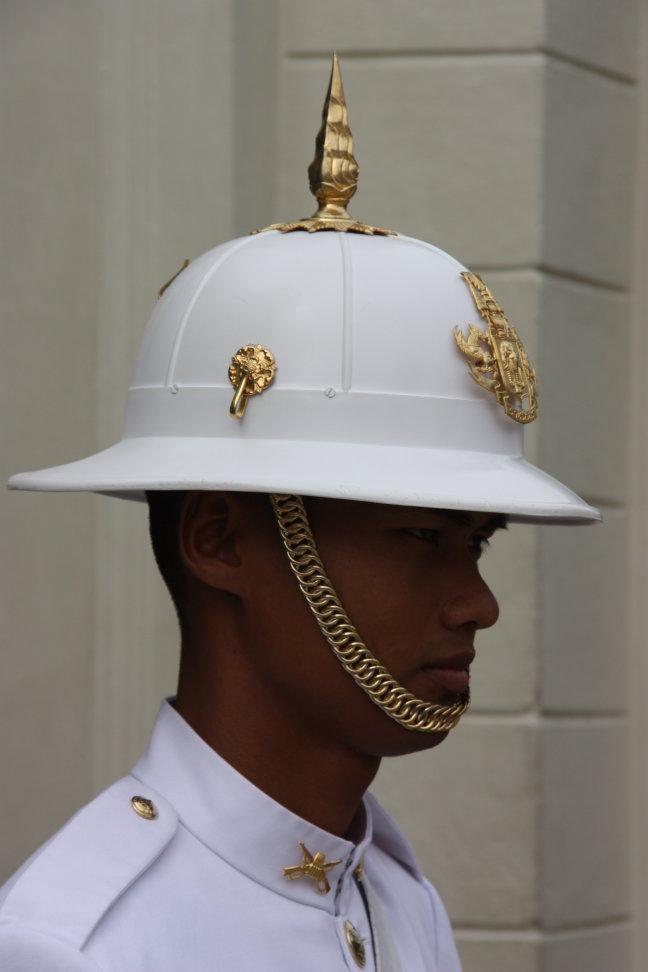 2008: Bangkok: Grand Palace en bewaking.